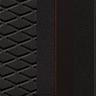 'Bucket' Tip Koltuklar ve Kırmızı Dikişli Siyah Kumaş / Alcantara Döşeme